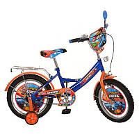 Детский велосипед PROF1 мульт 16д PR1643 Racing, оранжево-синий***