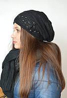 Комплект (шапка с шарфом) черный