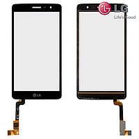 Сенсорный экран (touchscreen) для LG X150 Bello 2, черный, оригинал