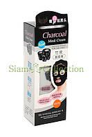 Черная маска-пленка для лица с Бамбуковым углем. Charcoal Anti-Blackhead Mask Cream
