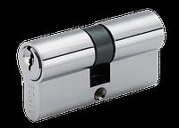 Евроцилиндр для дверей LINDE A5E 30/30 (английский ключ/английский ключ) CP полированный хром