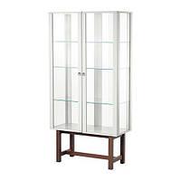 "IKEA ""СТОКГОЛЬМ"" Шкаф со стеклянными дверями, бежевый"
