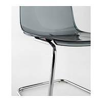 "IKEA ""ТОБИАС"" Стул, серый, хромированный"