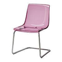 """IKEA """"ТОБИАС"""" Стул, сиреневый, хромированный"""