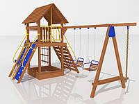 """Детский комплекс Kidigo """"Праздник малыша"""" высота горки 1,5  м"""