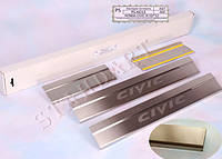 Накладки на пороги Honda Civic IX 5D 2012- 4шт. Standart