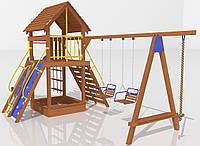 """Детский комплекс Kidigo """"Счастливое детство"""" высота горки 1,5  м"""
