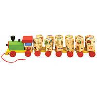 Мир деревянных игрушек Паровозик с алфавитом Д222