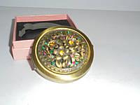 Зеркальце в подарочной упаковке , золото №7184, карманное, косметическое зеркальце, подарки для женщин