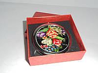 Зеркальце в подарочной упаковке , золото №7180, карманное, косметическое зеркальце, подарки для женщин