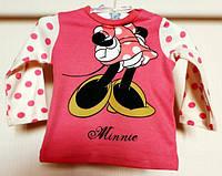 Кофточка (футболка с длинным рукавом)  Минни Маус  Disney