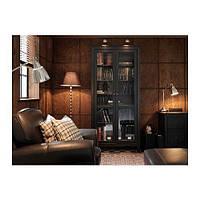 "IKEA ""ХЕМНЭС"" Шкаф-витрина, черно-коричневый"