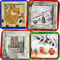Картинки на холсте, дереве, стекле, др.поверхностях