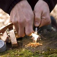 Огниво кресало кремний зажигалка для костра в любых условиях!