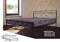 Кровать металлическая двуспальная Верона Люкс