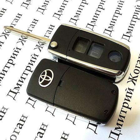 Выкидной ключ для TOYOTA (Тойота) (корпус) 3 - кнопки, фото 2