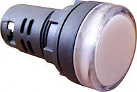 Сигнальная арматура (лампа) светодиодная AD22-22DS белая 24V АC/DC