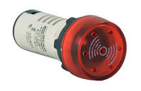 Зуммер AD22-22 BM/r мигающий красный  220V АC