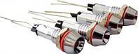 Сигнальная лампа (арматура) металлическая AD22C-6  красная 24V AC/DC