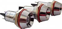 Сигнальная лампа (арматура) металлическая AD22C-16  красная 24V AC/DC