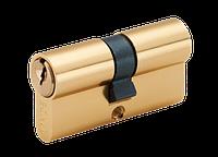 Евроцилиндр для дверей LINDE A5E 30/30 (английский ключ/английский ключ) PB полированная латунь