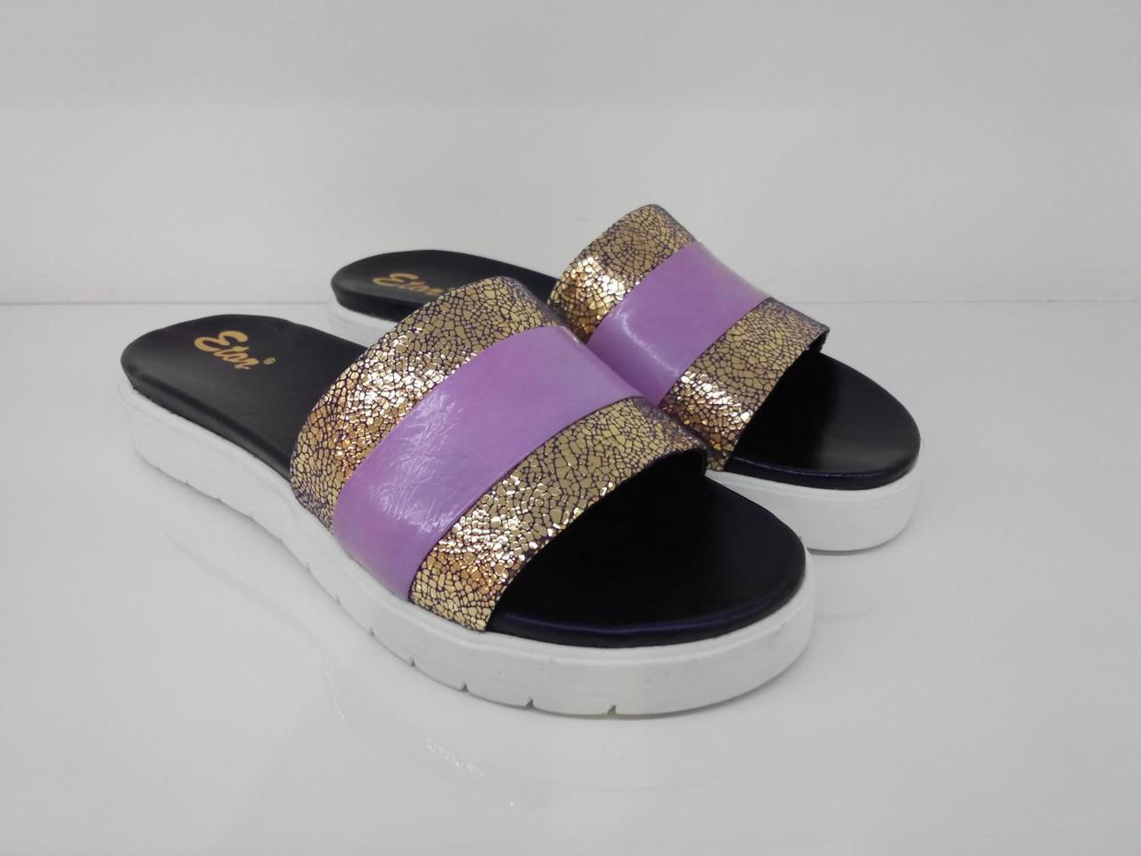 Шлепанцы Etor 5355-56153-12 фиолетовые