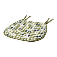 "ИКЕА ""АНВЮ"" Подушка на стул, зеленый  27/38x38x2.0 см."