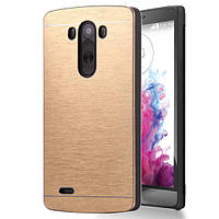 Чехол Motomo Line Series Metal + PC для LG G3 D855 Gold