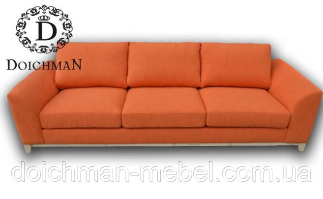Современный диван на деревянных ножках на три посадки Dream