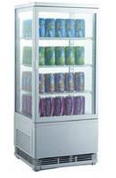 Шкаф-витрина холодильная EWT INOX RT68L (БН)