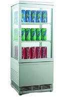 Шкаф-витрина холодильная EWT INOX RT58L (БН)