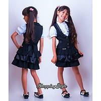 Детский школьный сарафан для девочки