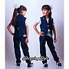 Детский школьный костюм тройка для девочки, фото 2