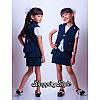 Школьный костюм для девочки тройка, фото 4