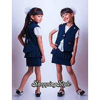 Детский школьный костюм тройка для девочки
