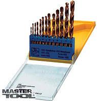 Набор сверл для металла, 13 шт HSS титан(2-8 мм, шаг 0,5 мм) в пластиковой коробке Mastertool (11-0413)