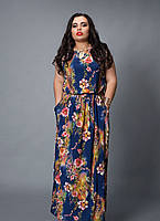 Длинные женские платья больших размеров