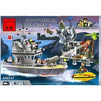 Конструктор Brick Военный корабль серии Боевые зоны 819, фото 1