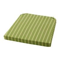 "ИКЕА ""МАЙВОР""  Подушка на стул, зеленый 41.5/35x41x4 см."