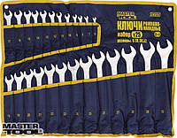 Ключи рожково-накидные набор 25 шт ролл (6-28,30,32) Mastertool (71-2125)