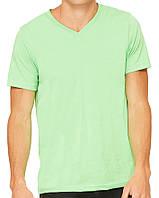 Футболка Bella + Canvas Unisex Jersey Short Sleeve V-Neck Tee Neon Green