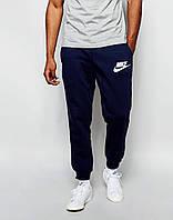 Cпортивные штаны Nike / Найк  синие имя+галочка белые