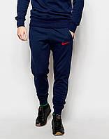 Мужские спортивные штаны Nike    Найк  синие галочка красная