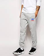 Мужские спортивные штаны ADIDAS | Адидас серые цветной лого