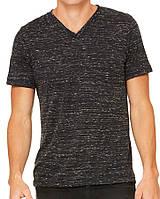 Футболка Bella + Canvas Unisex Jersey Short Sleeve V-Neck Tee Black Marble