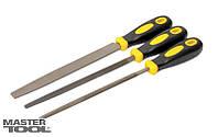 Напильники по металлу 3 шт, 200 мм, плоский/круглый/трёхгранный Mastertool (06-0210)