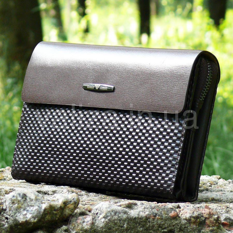 a84b55aa0ea8 Клатч мужской кожаный коричневый Armani 3511-2 - интернет-магазин
