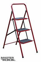 Лестница-стремянка металлическая 4 ступени с ковриком, 1000 мм