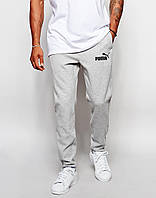 Cпортивные штаны Puma/Пума серые имя+значёк чёрные