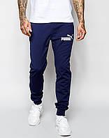 Cпортивные штаны Puma/Пума синие имя+значёк белые